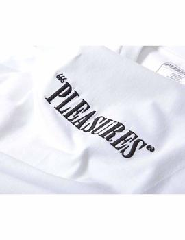 CAMISETA PLEASURES CORE LOGO BORDADO BLANCO
