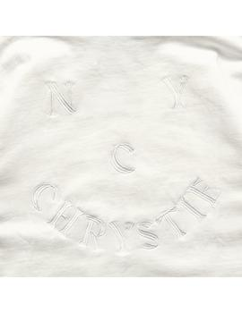 SUDADERA CHRYSTIE NYC SMILE LOGO WHITE