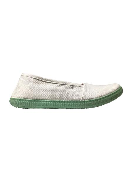 ZAPATILLAS DE LONA WALK IN PITAS BLANCO-VERDE