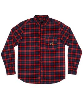 CAMISA PASSPORT BEST FRIEND EMBROIDERY FLANNO RED