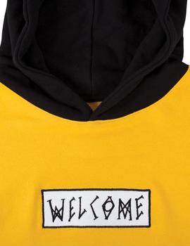 SUDADERA WELCOME VEIL PULLOVER HOODIE YELLOW