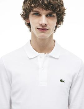 POLO LACOSTE MANGA LARGA BLANCO CLASSIC FIT